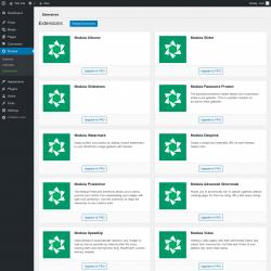 Page screenshot: Modula → Extensions