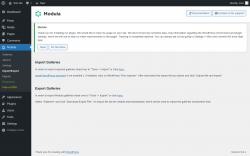 Page screenshot: Modula → Import/Export