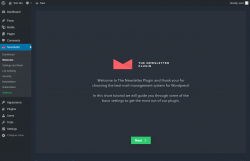 Page screenshot: Welcome ‹ Test site — WordPress