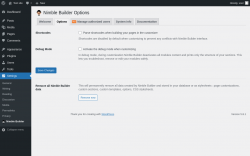 Page screenshot: Plugins  → System info → Options