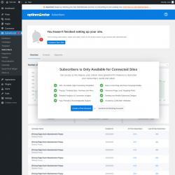 Page screenshot: OptinMonster  → Subscribers