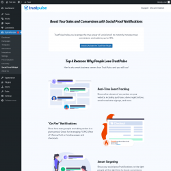 Page screenshot: OptinMonster  → Social Proof Widget