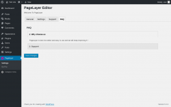 Page screenshot: Pagelayer → FAQ