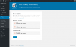 Page screenshot: Post and Page Builder → Settings