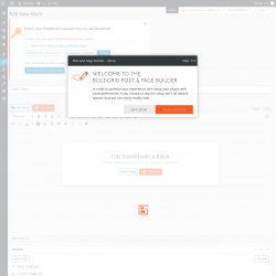 Page screenshot: Post and Page Builder → Add New Block