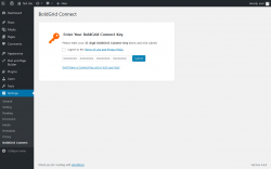 Page screenshot: Settings  → BoldGrid Connect