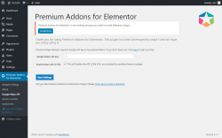 Page screenshot: Premium Addons for Elementor → Google Maps API