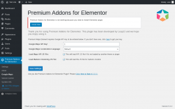 Page screenshot: Premium Addons for Elementor → Google Maps