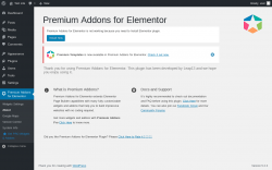 Page screenshot: Premium Addons for Elementor → About