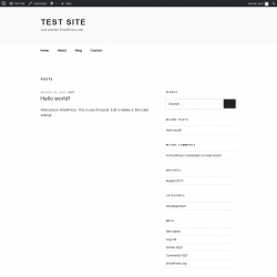 Page screenshot: Test site – Just another WordPress site