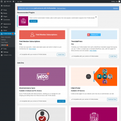 Page screenshot: Profile Builder → Add-Ons