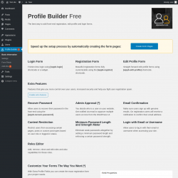 Page screenshot: Profile Builder