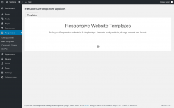 Page screenshot: Responsive → Site Templates