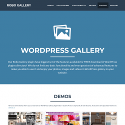Page screenshot: Robo Gallery → Overview →                      Get Pro Version
