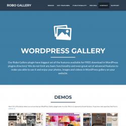 Page screenshot: Robo Gallery → Pro Version