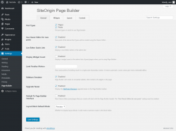Page screenshot: Settings  → Page Builder