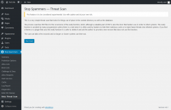 Page screenshot: Stop Spammers → Beta: Threat Scan