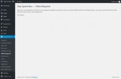 Page screenshot: Stop Spammers → Allow Requests