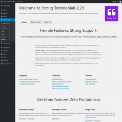 Page screenshot: Testimonials 0 → About