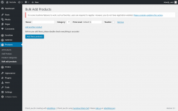 Page screenshot: Products → Bulk add products