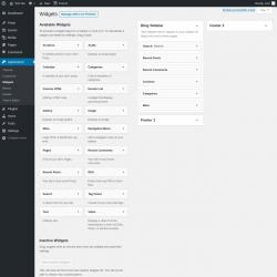 Page screenshot: Widgets ‹ Test site — WordPress