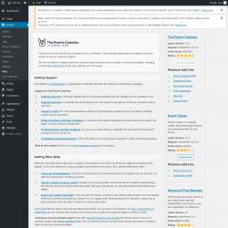 Page screenshot: Events → Help