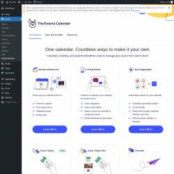 Page screenshot: Events → Event Add-Ons