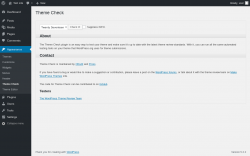 Page screenshot: Appearance → Theme Check
