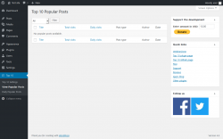 Page screenshot: Top 10 → View Popular Posts