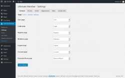 Page screenshot: Ultimate Member → Settings