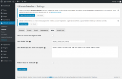 Page screenshot: Ultimate Member → Settings → Misc