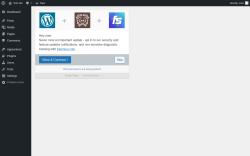 Page screenshot: ‹ Test site — WordPress