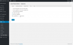 Page screenshot: Settings  → User Role Editor