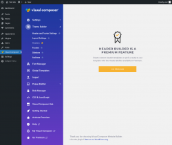 Page screenshot: Visual Composer → Headers