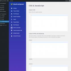 Page screenshot: Visual Composer → CSS & JavaScript