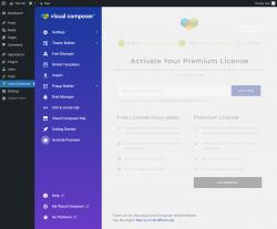 Page screenshot: Visual Composer → ★ Activate Premium
