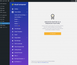 Page screenshot: Visual Composer → Archives