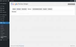 Page screenshot: Settings → Google Reviews Widget → Reviews