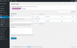 Page screenshot: Products → Tags