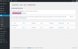 Page screenshot: WooCommerce → Status → Scheduled Actions