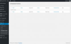 Page screenshot: Tools → Scheduled Actions