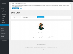 Page screenshot: Hustle → Email Lists