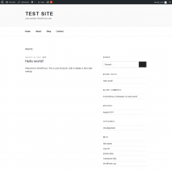 Page screenshot: Test site - Just another WordPress site
