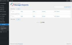 Page screenshot: All Export → Manage Exports