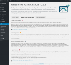 Page screenshot: Asset CleanUp → Benefits of fast loading pages