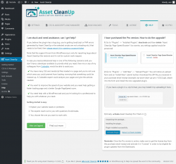 Page screenshot: Asset CleanUp → Help