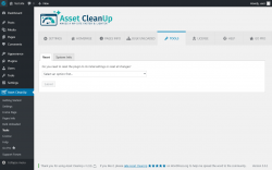 Page screenshot: Asset CleanUp → Tools