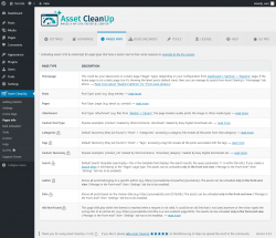 Page screenshot: Asset CleanUp → Pages Info