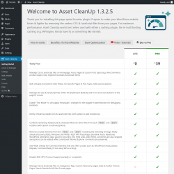 Page screenshot: Asset CleanUp →  Lite vs Pro