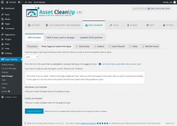 Page screenshot: Asset CleanUp → Bulk Changes → Posts, Pages & Custom Post Types
